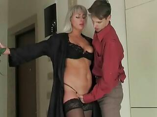 Milf seduces young boy
